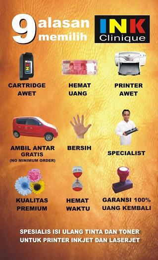 Refill Tinta printer terbaik di Surabaya