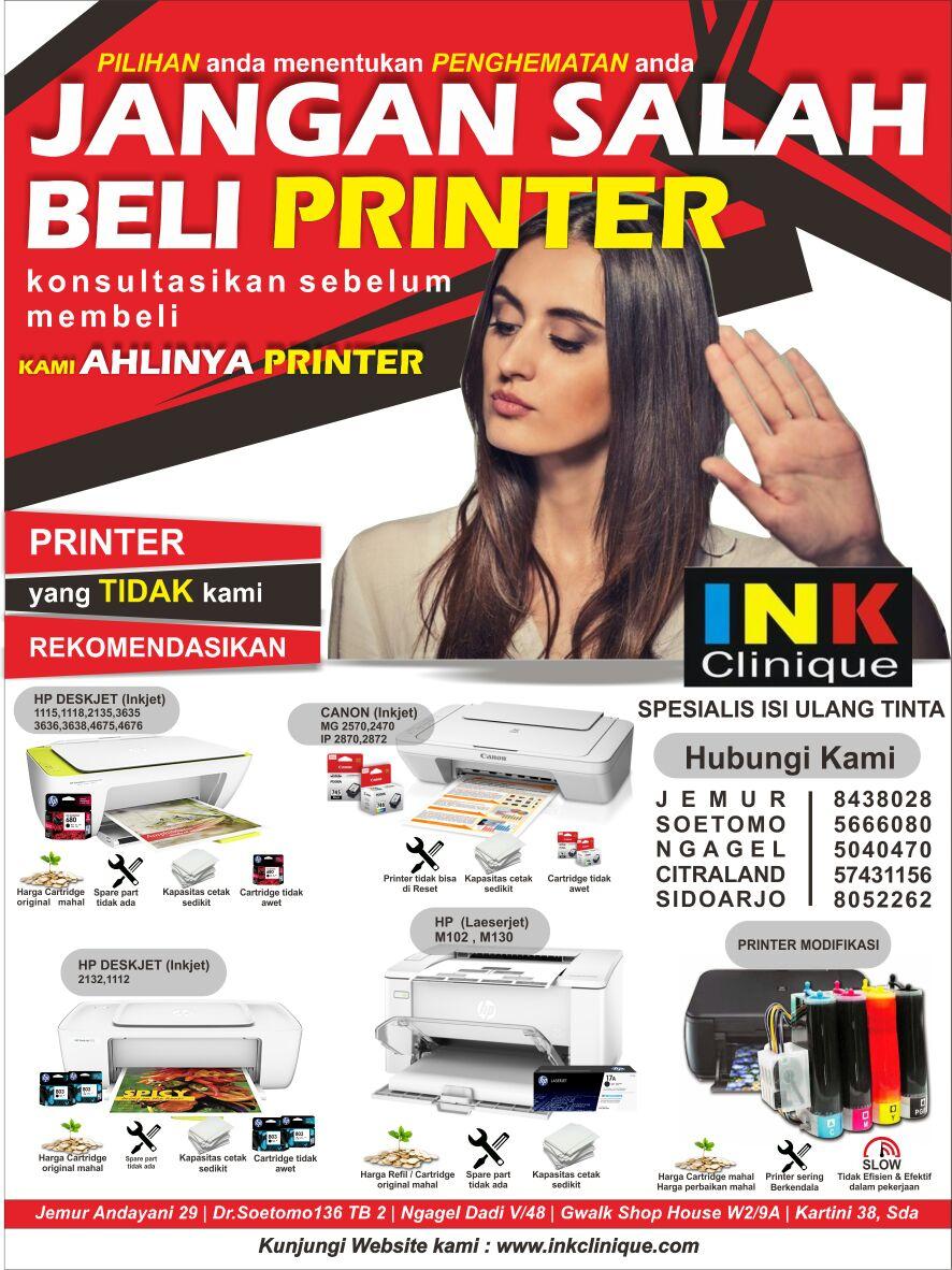 beli printer murah bagus awet surabaya inkclinique