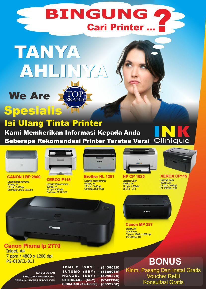 beli printer murah bagus awet inkclinique surabaya
